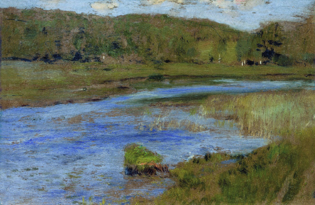 "Isaac Levitan. Windy day. A sketch for the painting ""Lake"""