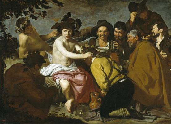 Diego Velasquez. The Triumph Of Bacchus (The Drunkards)