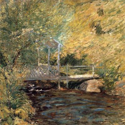 John Henry Twachtman. Little bridge