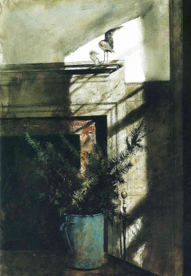 Andrew Wyeth. A bird in the house