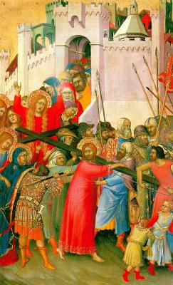 Симоне Мартини. Несение креста