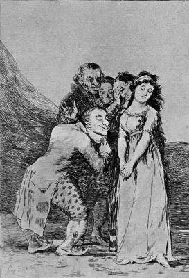 "Francisco Goya. ""What a sacrifice!"" (Series ""Caprichos"", page 14)"