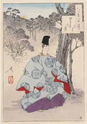 "Tsukioka Yoshitoshi. The Temple Of The Moon. The series ""100 aspects of the moon"""