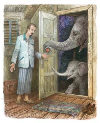 Vitaly Vasilevich Dudarenko. Elephants beggars