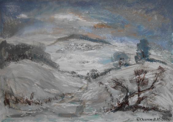 Владимир Иванович Осипов. Snow with rain