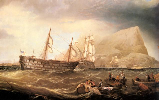 Корабли в Гибралтаре