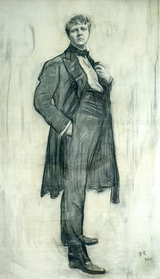 Валентин Александрович Серов. Портрет артиста Ф. И. Шаляпина