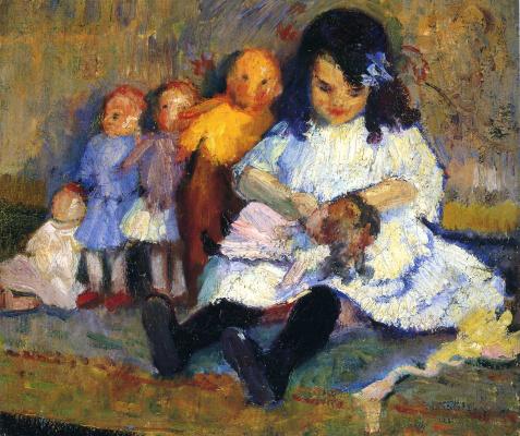 Бернхард Кутманн. Девочка с игрушками