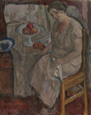 Абрам Аншелевич Маневич. Portrait of the artist's wife