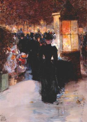 Childe Hassam. Paris Nocturne