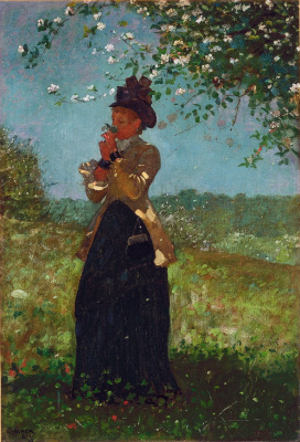 Winslow Homer. The girl in the yellow jacket