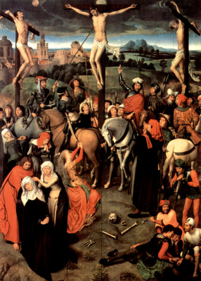 Hans Memling. The crucifixion. Altar of the passion (Triptych Greverud). The Central part