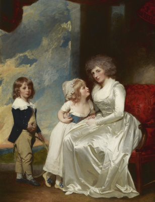 George Romney. Henrietta, Countess of Warwick, and Her Children
