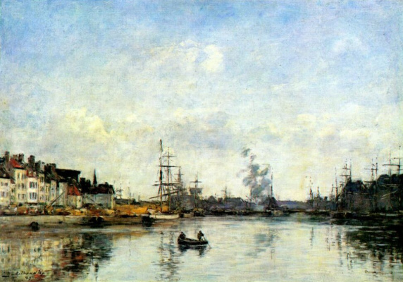 Eugene Boudin. The entrance to the harbour