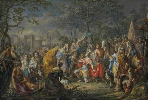 Александр Македонский получает ключи от Вавилона