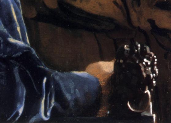 Ян Вермеер. Женщина в красной шляпе. Фрагмент