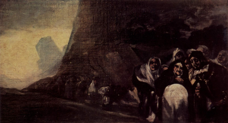 Francisco Goya. A series of gloomy pictures: Pilgrims