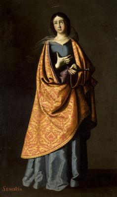 Francisco de Zurbaran. Holy Engracia