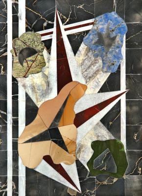 Boris Lazarevich Oshkukov. Crystals, florentine mosaic