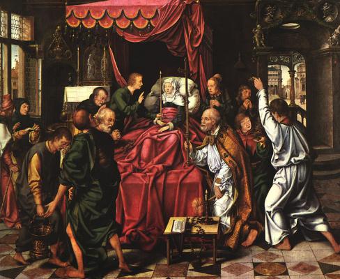 Йос ван Клеве. Смерть Девы