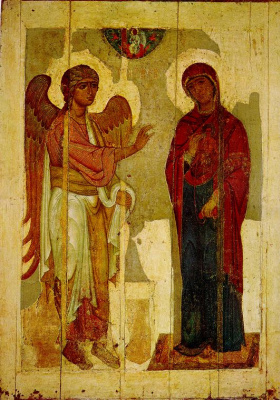 Icon Painting. The Annunciation