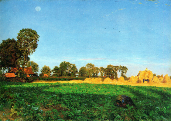 Ford Madox Brown. Weeding of corn