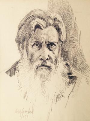 """Марк Иванович Малютин. """"Портрет Кибальникова А.П."""""""