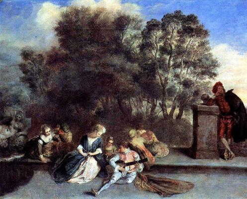 Antoine Watteau. Italian comedians