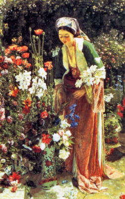 John Frederick Lewis. In the gardens of the Bey