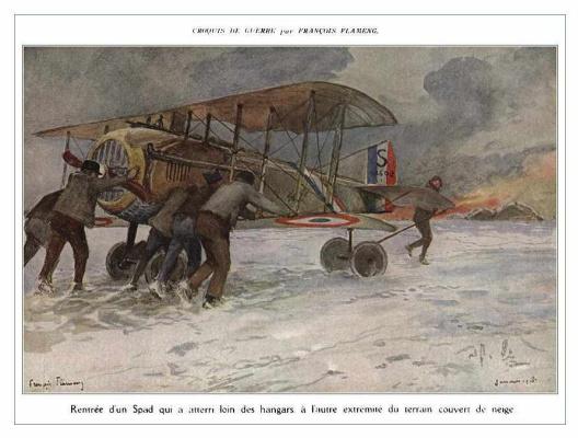 Франсуа Фламенг. Аэроплан