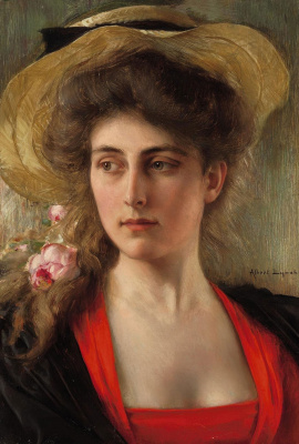 Albert Lynch 1851-1912 Peruvian artist. Head of a woman.