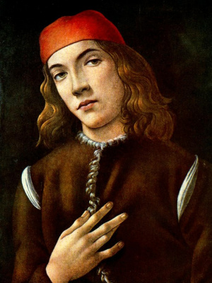 Sandro Botticelli. Portrait of a young man