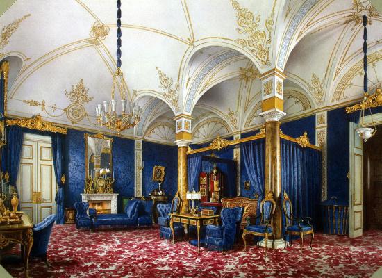 Luigi Premazzi. Bedroom of Empress Maria Alexandrovna