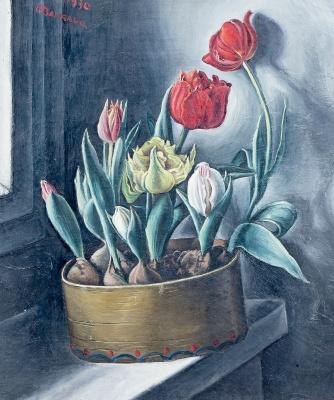 Francois-Emile Barro. Tulips