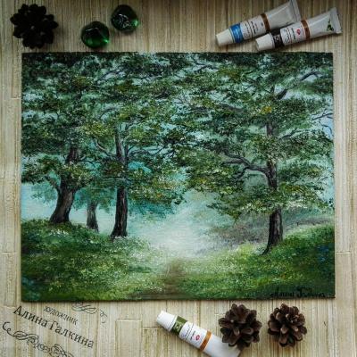 Алина Евгеньевна Шварёва (Галкина). Forest landscape