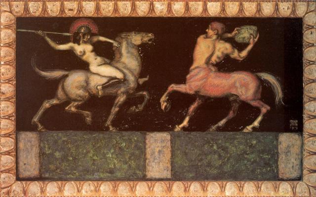 Franz von Stuck. Amazon and centaur