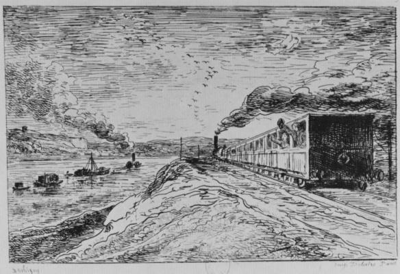 Charles-Francois Daubigny. Departure