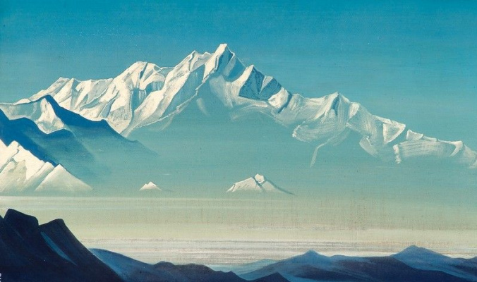 Nicholas Roerich. Mount of five treasures (Two worlds)