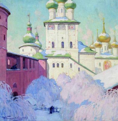 Ivan Goriushkin-Sorokopudov. Winter. Rostov Kremlin. 1910s