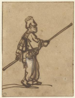 Рембрандт Харменс ван Рейн. Мальчик, гуляющий с палкой