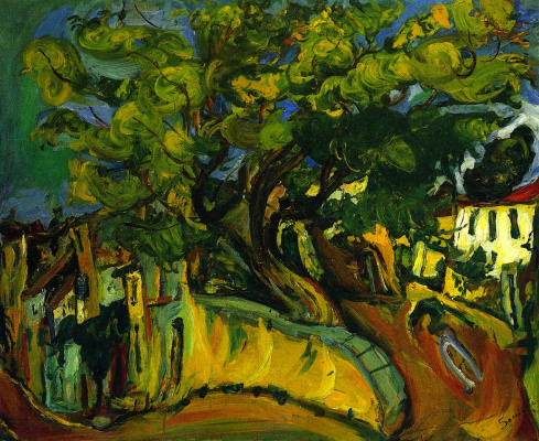 Хаим Соломонович Сутин. Кань. Пейзаж с деревом