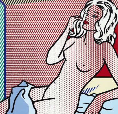 Roy Lichtenstein. Nude sunbathing