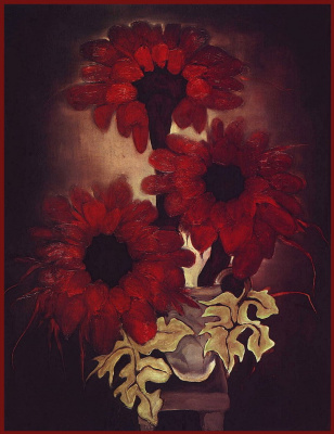 Бренда Барнум. Красные цветы