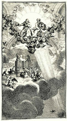 William Hogarth. The Council in heaven