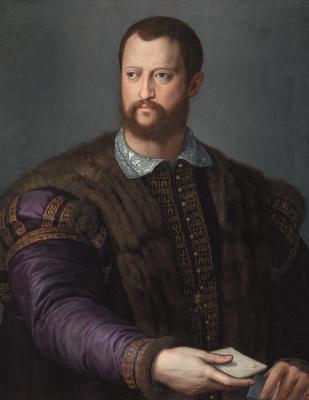 Agnolo Bronzino. Portrait of Cosimo I Medici aged 40