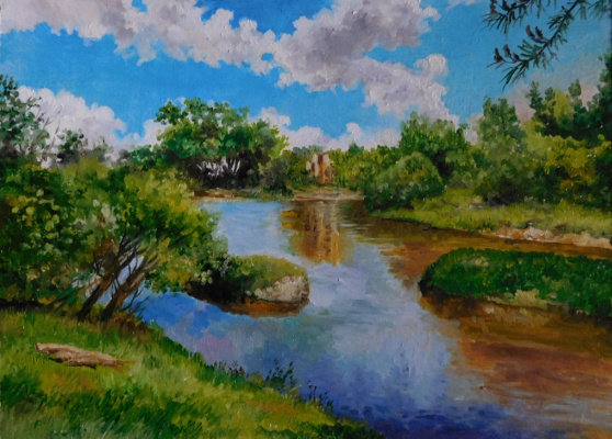 "Vladimir Kimovich Vakhrushev. ""the river Kirzhach, may"""