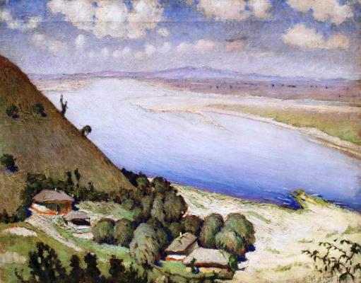 Николай Григорьевич Бурачек. Morning on the Dnieper, Kanev