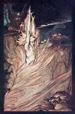 "Arthur Rackham. Illustration for the book ""The Ring of the Nibelungen"""