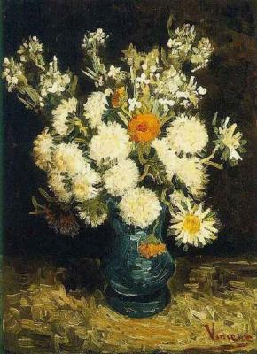 Винсент Ван Гог. Цветы в синей вазе