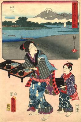 Хиросигэ Кунисада. Суши